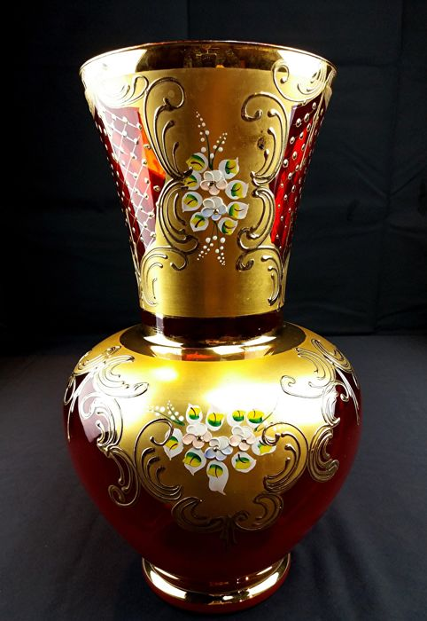 Tre Fuochi - Large antique centrepiece vase