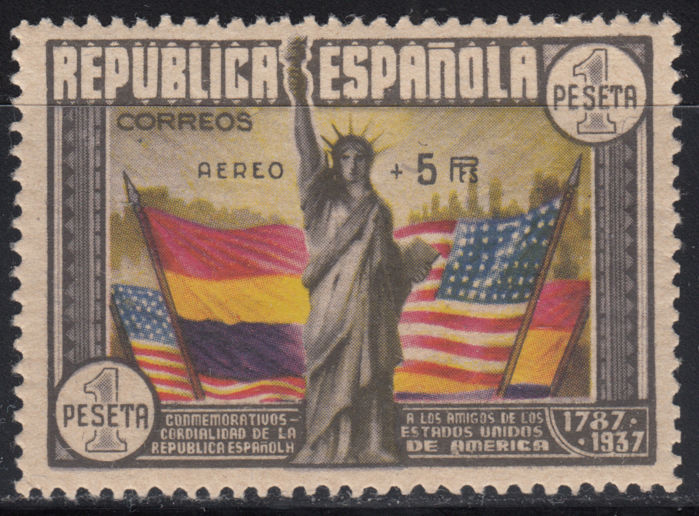 Spain 1938 - 150th anniversary of the US Constitution Edifil 765