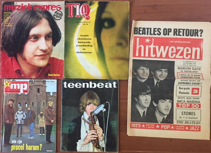 Various Dutch popmagazines - lot with 14 rare issues - 1964 / 1968