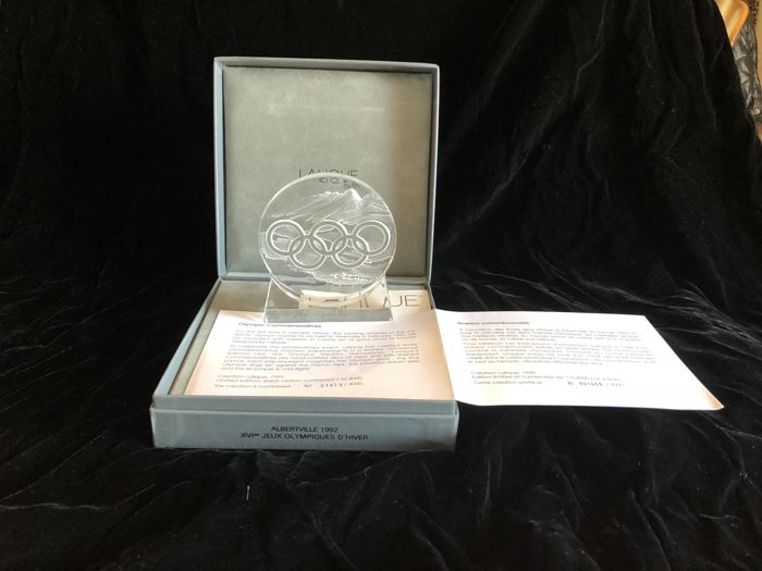 Lalique, Commemorative Albertville 1992 Olympic Games