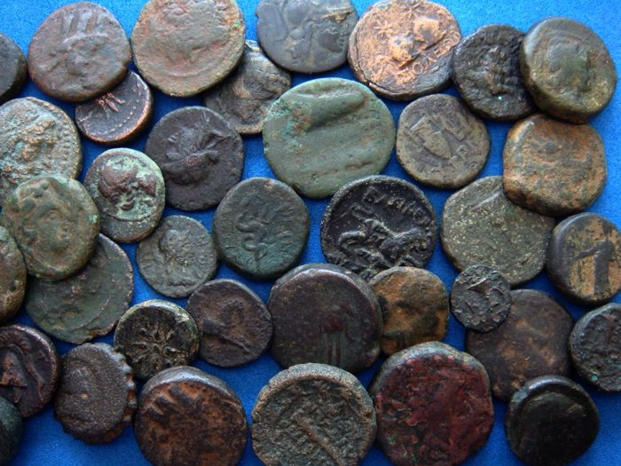Greek (450 Bc-100 Ad) A Lot Of 5 X Ae-greek Coins From Different Mints Low Price Coins: Ancient