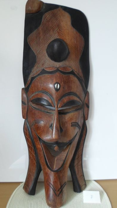 Big and beautiful African mask - 20th century - 3.700 kg - Carved in teak wood