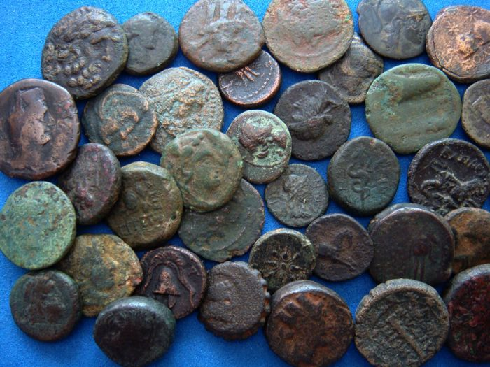 A Lot Of 5 X Ae-greek Coins From Different Mints Low Price Coins: Ancient