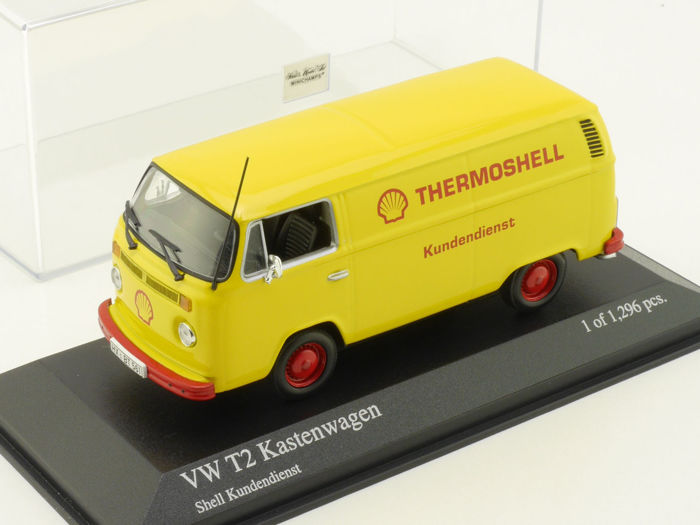 MiniChamps - 1:43 - Volkswagen T2 Kastenwagen Shell Kundendienst 1972 - Limited Edition of 1.296 pcs.