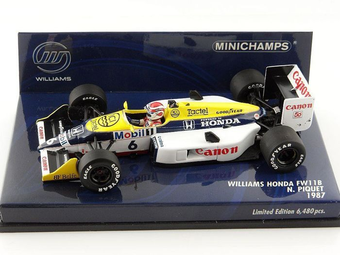 MiniChamps - 1:43 - Williams Honda FW11B N. Piquet 1987 - Limited Edition of 6.480 pcs.