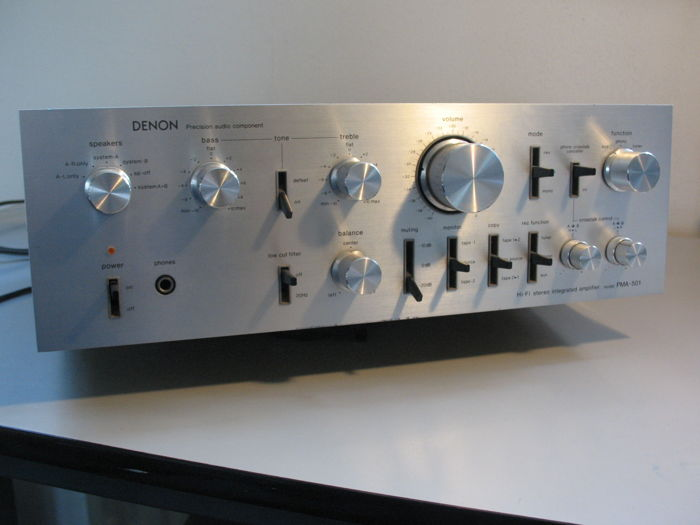 Amplificatore vintage High End DENON PMA 501 (1978) incl. Controllo cross talk e test, usato usato