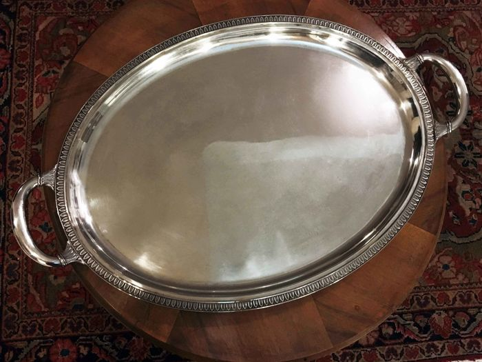 Outstanding Silver Empire style Tray by Italian silversmith Dabbene - Italy, mid 20th century