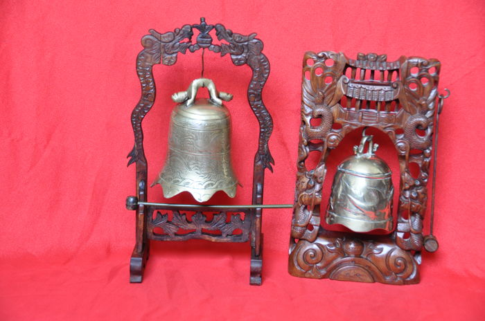 Two table gongs bells - China - first half / mid 20th century
