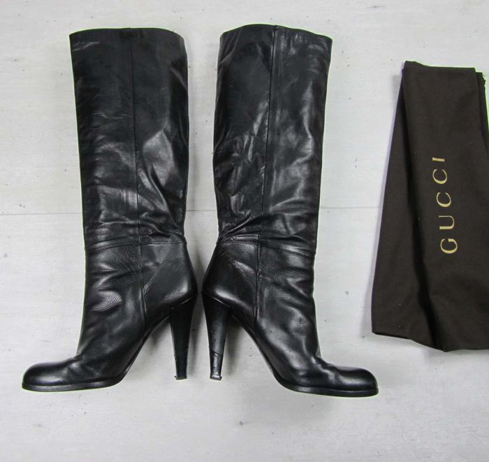 654b48709e1 Gucci - Leather Highheel Boots - Catawiki