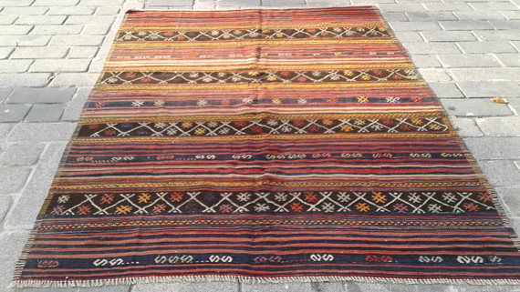 Old Kilim from Pergamon , Turkey, 164 x 225 cm