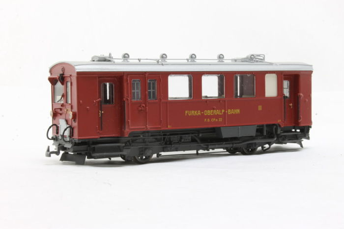 Bemo H0e, H0m - 1297 212 - Railcar - CFm 2/2 22 - Metal Collection - Furka Oberalp