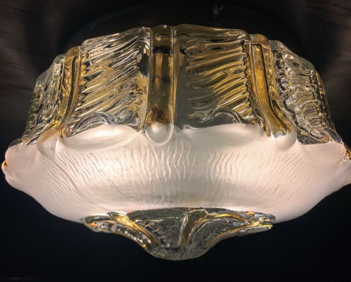 Murano (not attributed) - Vintage Murano glass recessed light fixture