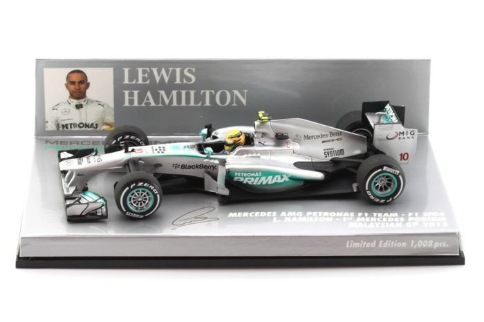 MiniChamps - 1:43 - Mercedes F1 W04 L. Hamilton Malaysian GP 2013 - Limited Edition of 1.008 pcs.