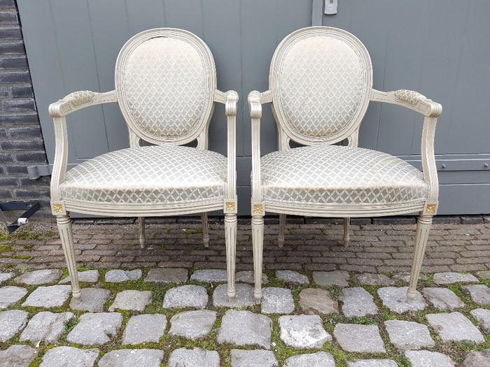 Set Louis Seize style chairs - France - 20th century