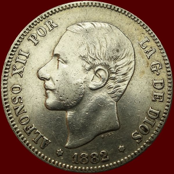 Spain - Alfonso XII - 2 Pesetas 1882(82) MS-M - silver