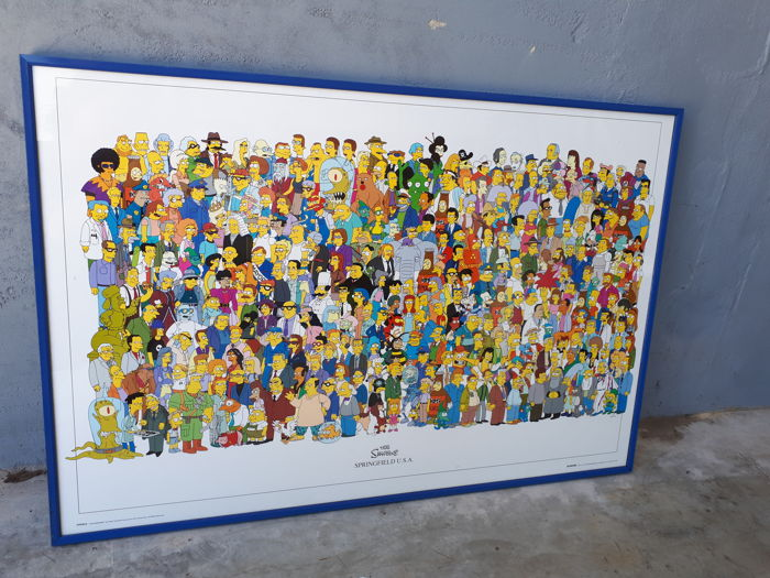 huge the simpsons springfield 2001 wall poster gb posters fl0315
