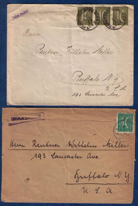 Germany 1877/1923 - Lot Of Twenty Postal Covers And Postal Stationary