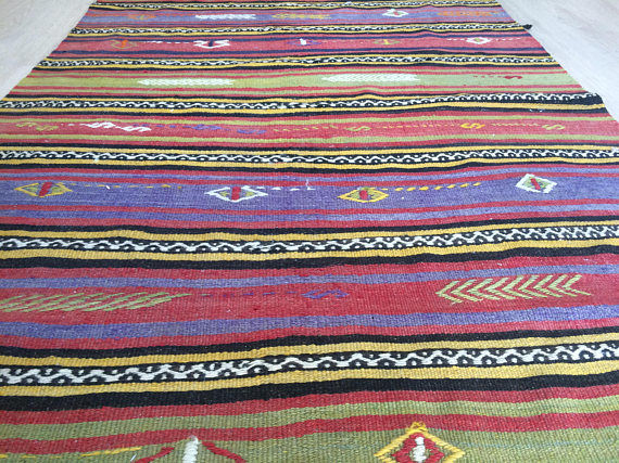 Turkish Kilim from Konya, 114 x 220 cm