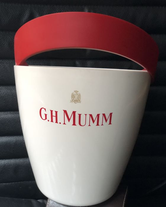 Vintage and exclusive Champagne G.H. MUMM ice bucket cooler about 1980