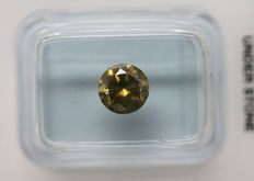 1.07 Cts Certified Natural Fancy Greenish Yellow Diamond  -No Reserve