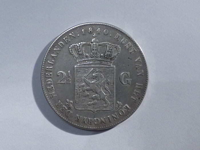 The Netherlands - 2½ Guilders 1840 Willem I - silver