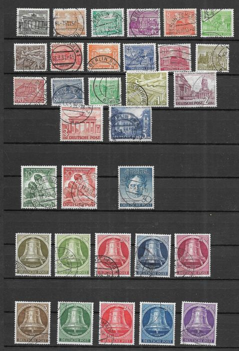 Berlin 1949 1955 Collection Of Validated Stamps