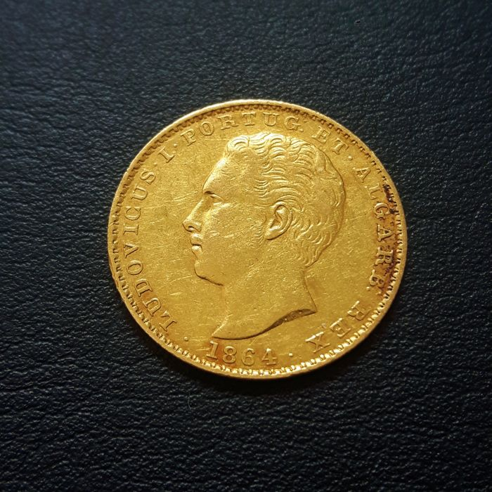 Portugal Monarchy – D. Luís I (1861-1889) – 2,000 Reis – 1864 – Gold
