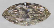 Marquise diamond of 0.43 ct, Brown VVS2, UNTREATED UNHEATED, 100% natural (No Reserve price), low price shipping
