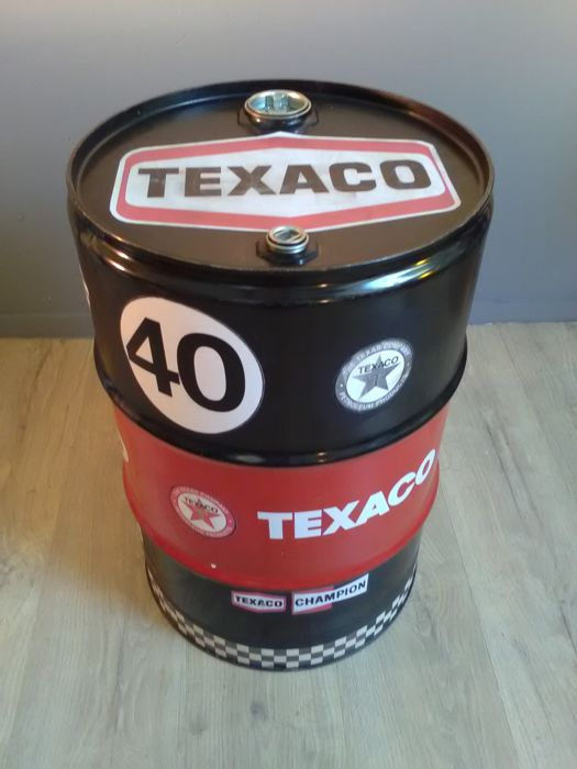 Texaco - Barrel / Seat / Chair - Metal 60 x 40 cm