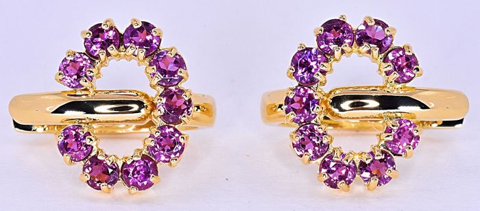 1.96 Ct Purple Tourmalines earrings - no reserve price