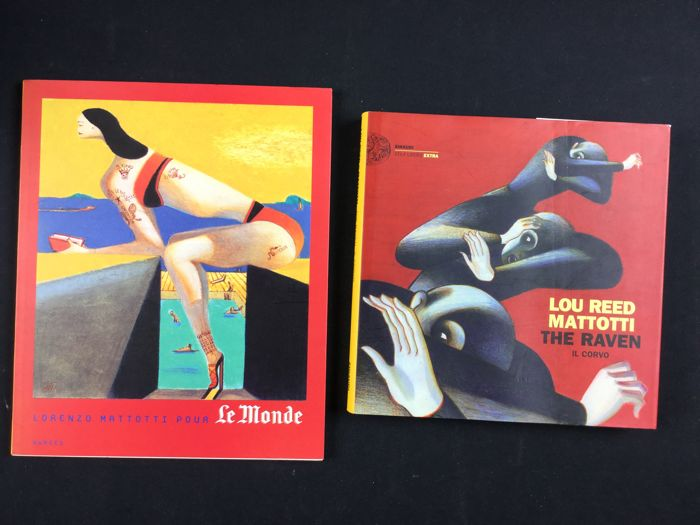 "Mattotti, Lorenzo - 2x volumes ""The Raven e Lou Reed"" and ""Mattotti pour Le Monde"""
