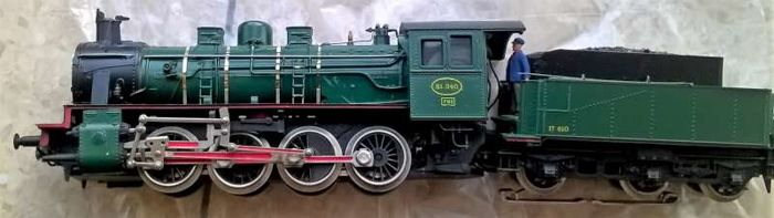 dacker H0 - Steam locomotive with tender - Certified - NMBS
