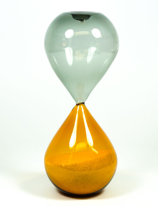 De Mio Giuliano (Murano) - Grey and amber hourglass