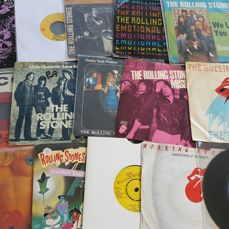 """Rolling Stones - 15 Original Classic Singles 7""""  from different countries."""