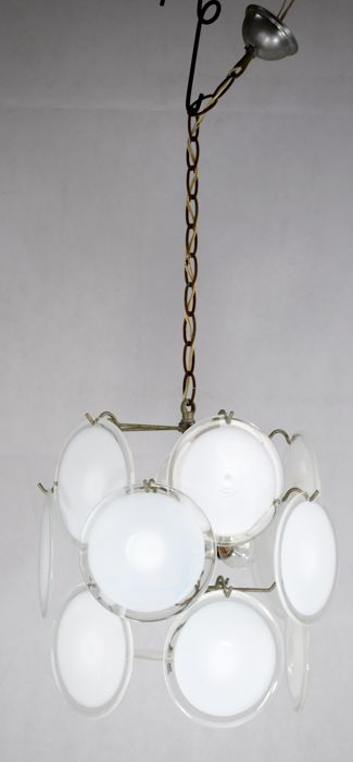 Attributed to: Gino Vistosi - Disc chandelier