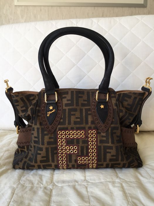 Fendi - Tobacco Zucca Print Canvas Tote Bag Schoudertas