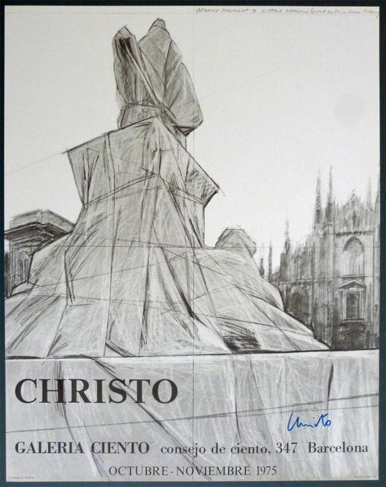 Christo - Wrapped Monument - handsigniert