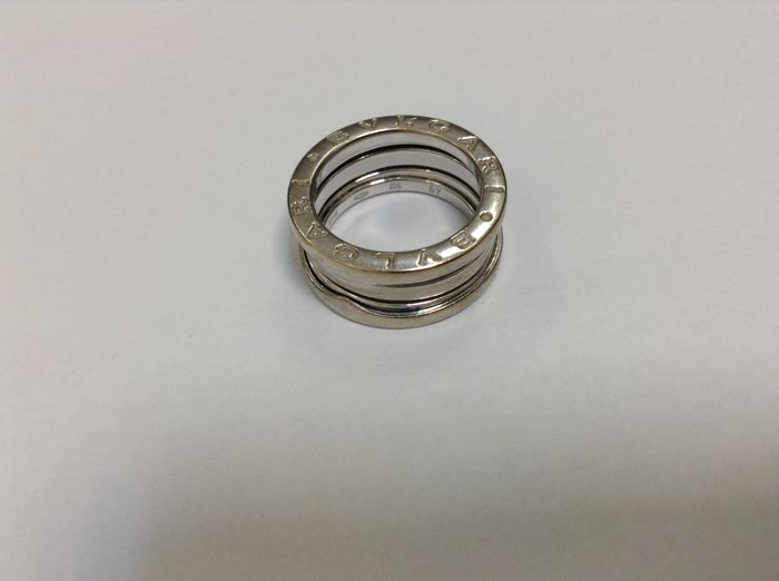 Bvlgari - B.zero1 - 18k white gold , 4-band ring size - 49