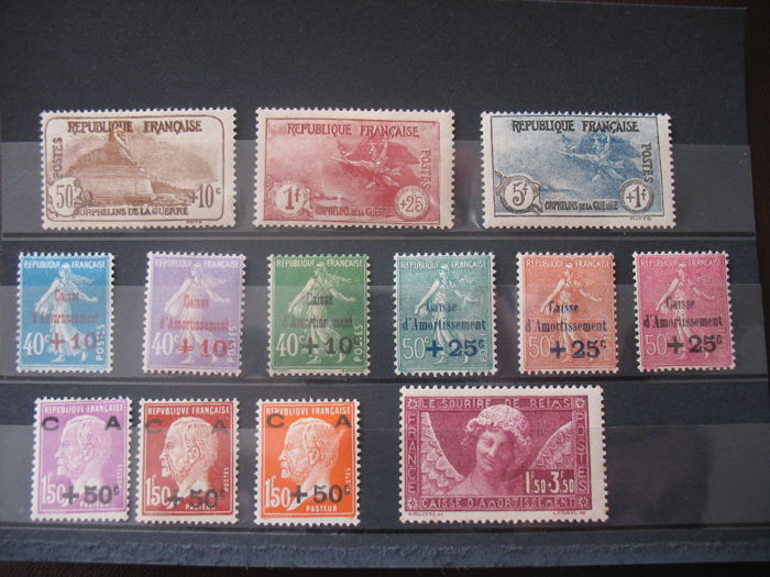 France 1925-30- 50 some rare stamps - Catawiki