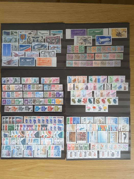 France 1960/1999 – Selection of 40 years of Airmail stamps, precancels, service stamps, and tax stamps