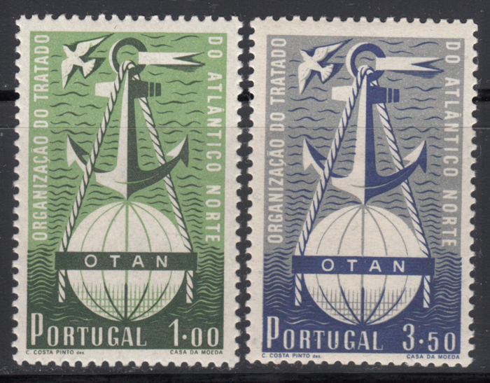 Portugal 1952 - Anniversary of the North Atlantic Treaty Organization N ATO - Michel 778/779