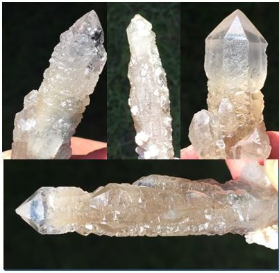 4 Sirius soul quartz points - longest 6.5 cm - 60 g (4)