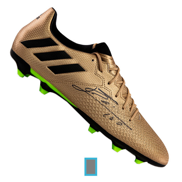 Lionel Messi official signed gold