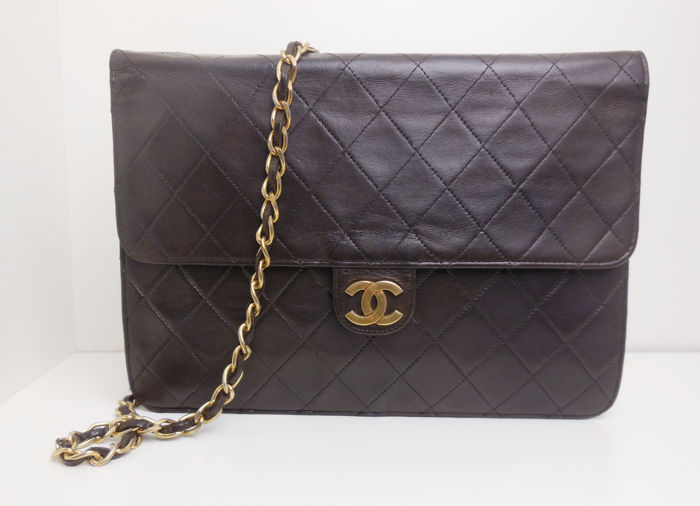 Chanel - full flap single chain + authenticitycard Schoudertas - Vintage