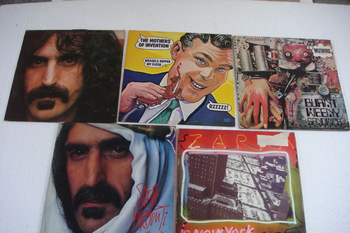 5 Records of Frank Zappa and the Mothers of Invention ( 2 double) Total 7 Records