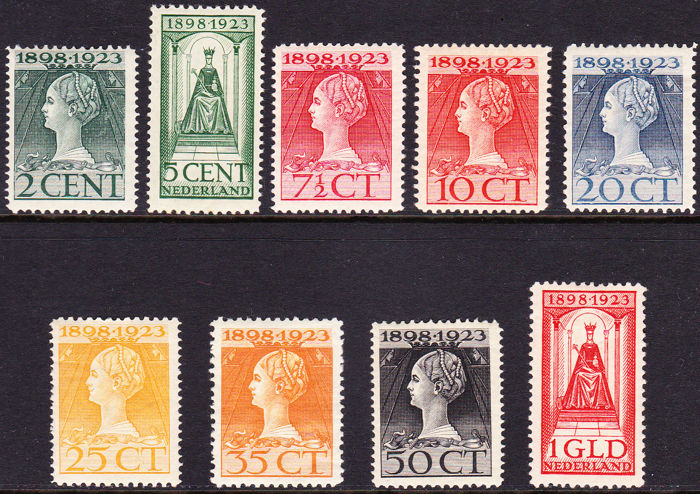 The Netherlands 1923 - Anniversary - NVPH 121/129