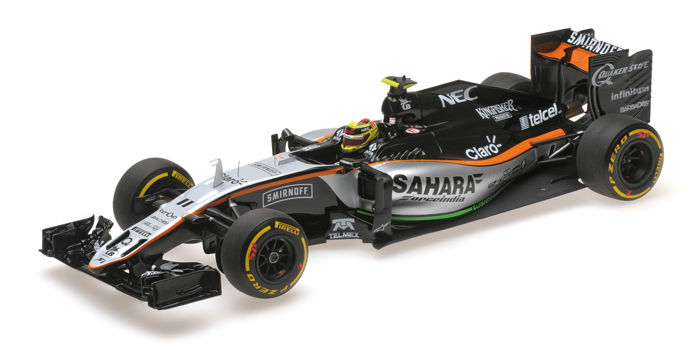 MiniChamps - 1:18 - Force India Mercedes VJM09 3rd Place Monaco 2016 - S. Pérez