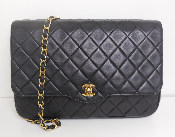 Chanel -  single flap with single chain + dustbag Shoulder bag - Vintage