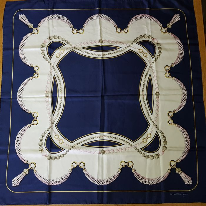 Les Must de Cartier Paris original vintage scarf