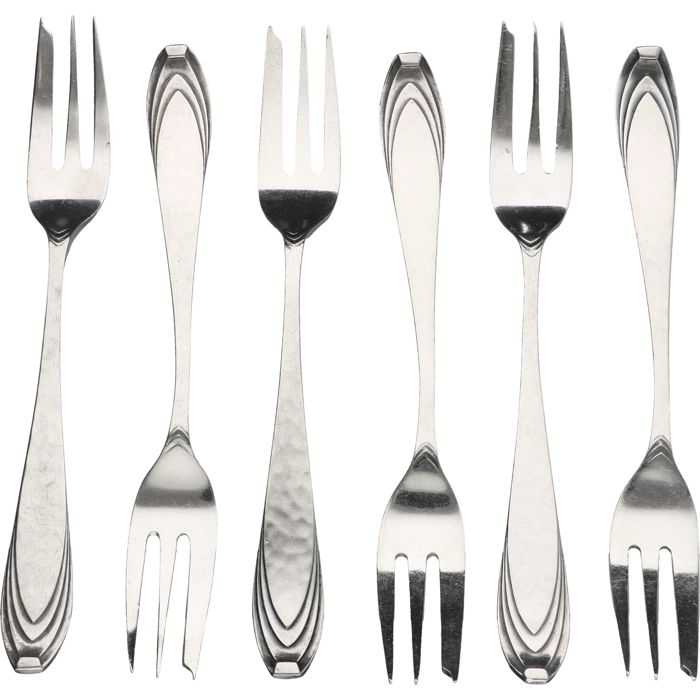 Six silver forks, Gerritsen and van Kempen, Zeist, early 20th century